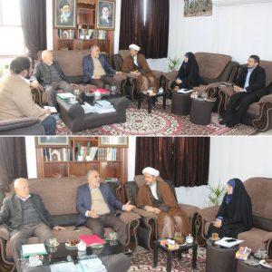 نشست امام جمعه کارون با رییس دانشگاه فنی مهندسی