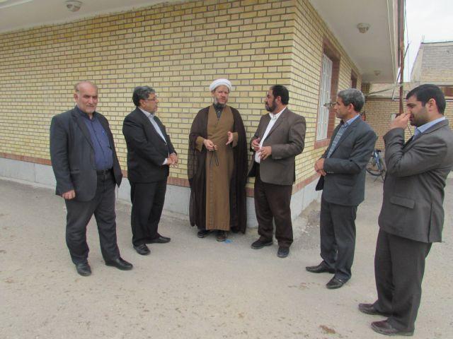 گزارش تصویری/ بازدید امام جمعه کارون از فنی حرفه ای شهرستان