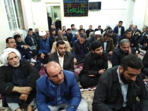 مراسم عزاداری حضرت زهرا(ع) در دفتر امام جمعه کارون برگزار شد