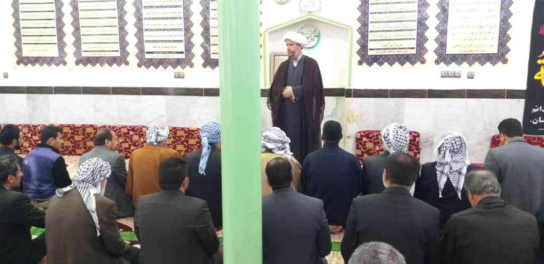 حضور امام جمعه کارون در مراسم عزاداری حضرت فاطمه زهرا(س) روستای موران