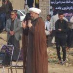 حضور امام جمعه کارون در مراسم هفتم شهید نجم الدین باوی