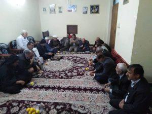 دیدار امام جمعه کارون با رزمنده 8 سال دفاع مقدس
