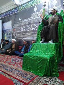 حضور امام جمعه کارون درمراسم درگذشت یکی از بستگان اقای حسین پور
