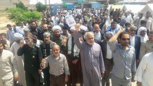 راهپیمایی مردم شهرستان کارون در محکومیت اقدام آمریکا علیه سپاه