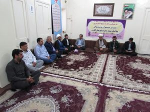 دیدار مدیران و مسئولین با امام جمعه کارون بمناسبت هفته بسیج کارگری