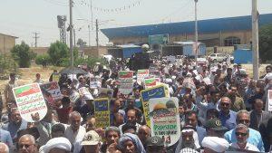 حماسه حضور مردم شهرستان کارون در راهپیمایی روز قدس +تصاویر