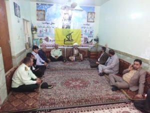 گزارش تصویری/دیدار امام جمعه کارون باخانواده شهداء بمناسبت عید سعیدفطر