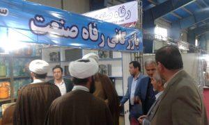 گزارش تصویری/بازدید امام جمعه کارون از نمایشگاه بومی سازی صنایع فولاد