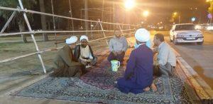 دیدار امام جمعه کارون از موکب پخت 14 هزار نفری کارون