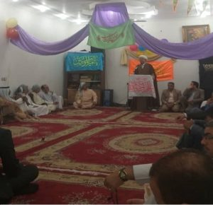 حضور و سخنرانی امام جمعه کارون در مراسمات عید غدیر کوی شریعتی