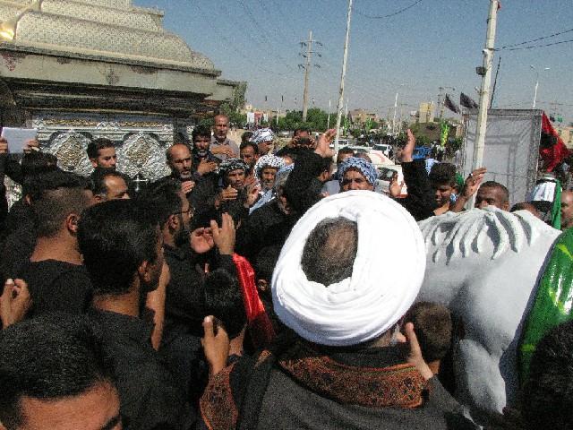 گزارش تصویری/ رونمایی از ضریح نمادین امام حسین(ع)