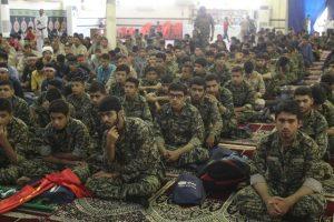 تجمع بزرگ بسیجیان،رزمندگان و جانبازان 8 سال دفاع مقدس در شهرستان کارون برگزار شد