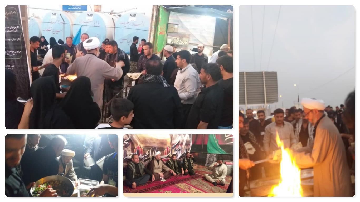 گزارش تصویری/حضور امام جمعه کارون در مواکب شلمچه