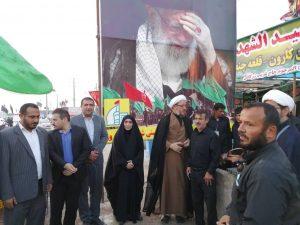 گزارش تصویری/بازدید امام جمعه کارون از مواکب این شهرستان در مرز شلمچه