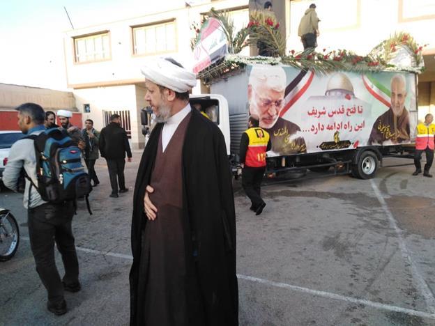 گزارش تصویری/حضور امام جمعه کارون در ایستگاه صلواتی شهیدسردار سلیمانی