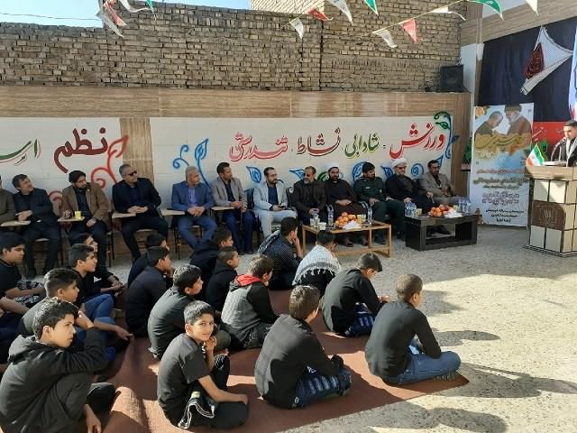 مراسم بزرگداشت شهادت سردار سرافراز سپهبد سلیمانی در دبیرستان ثامن