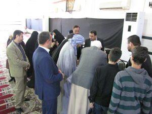 گزارش تصویری/ میز خدمت اداره بهزیستی در نمازجمعه این هفته