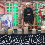 مراسم گرامیداشت چهلمین روز شهید راه خدمت با حضور امام جمعه کارون در اندیمشک برگزار شد