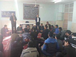 دیدار مسئول ستاد با دانش آموزان مدرسه شهید اسکندری