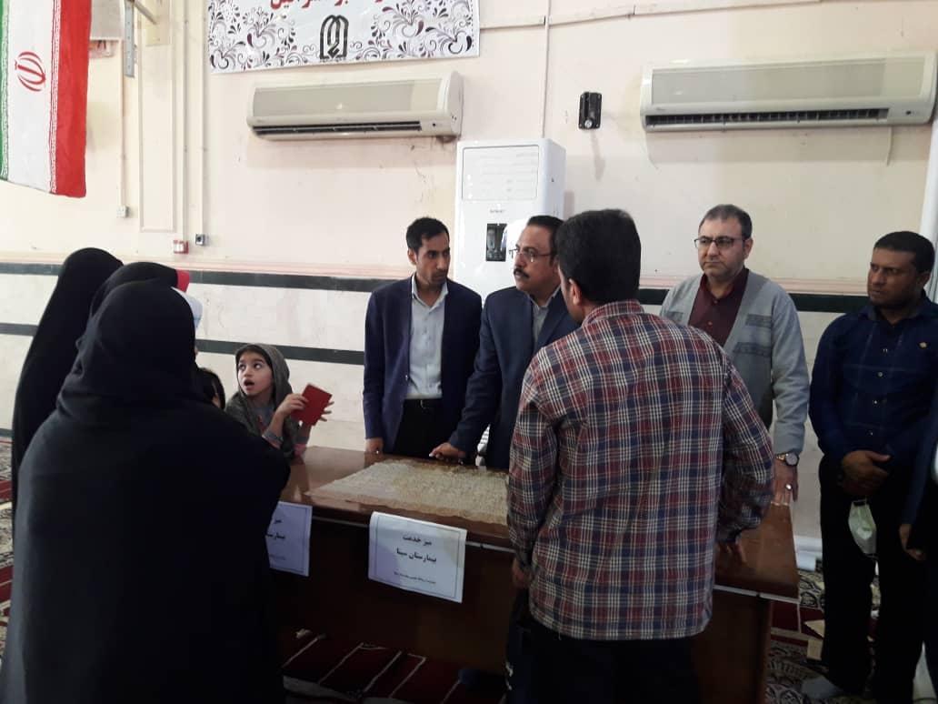 گزارش تصویری/میز خدمت این هفته نمازجمعه کارون بیمارستان سینا
