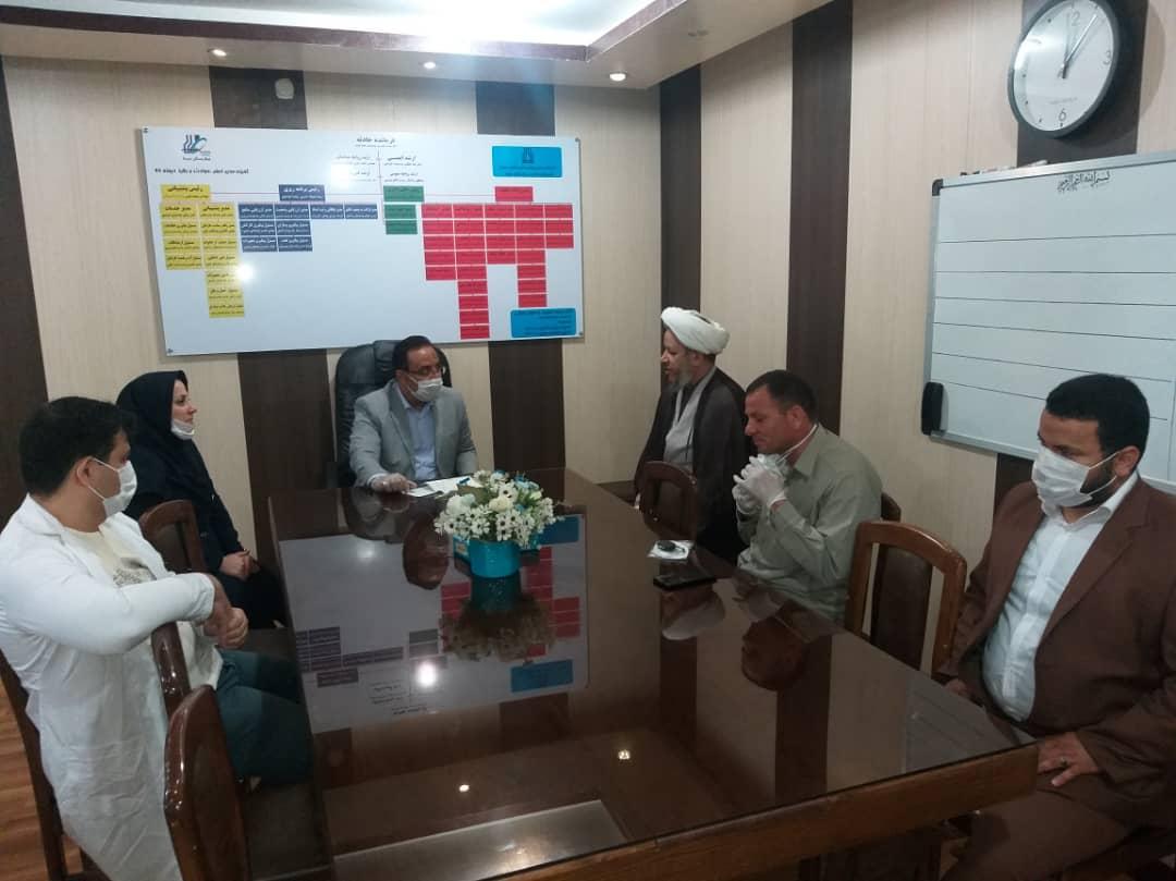 گزارش تصویری/دیدار امام جمعه کارون با مدافعان سلامت بیمارستان سینا