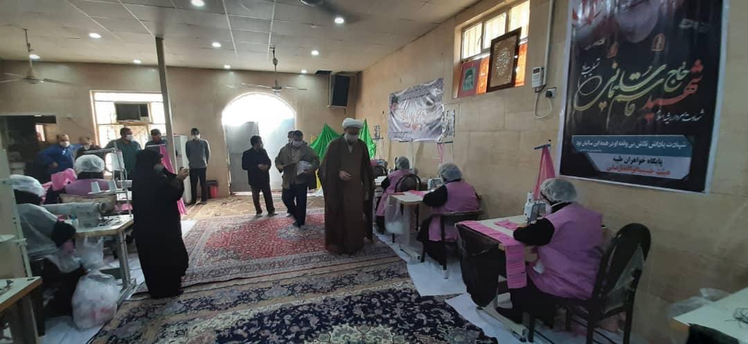 بازدید امام جمعه کارون از کارگاه تولید ماسک