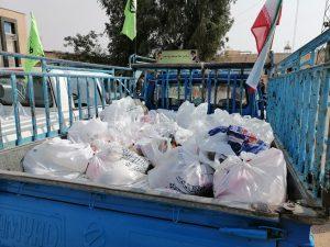 توزیع 1500 بسته مواد غذایی مرحله اول (مواسات)