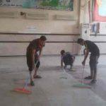 گزارش تصویری/غبارروبی وگردگیری ،شستشوی شبستان مصلی