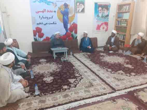 گزارش تصویری/جلسه امام جمعه کارون با روحانیون شهرستان