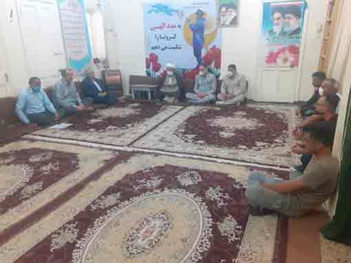 گزارش تصویری/دیداربخشدارمرکزی،اعضای شورای و ورزشکاران جنگیه با امام جمعه کارون