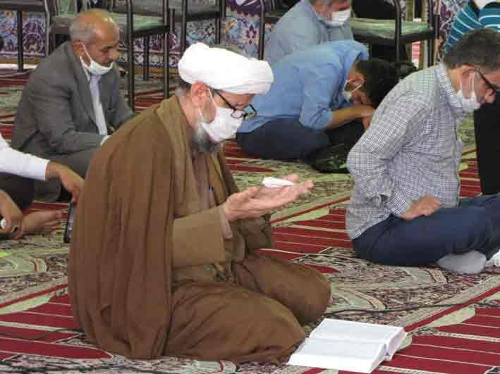 مراسم قرائت دعای عرفه در شهرستان کارون برگزار شد