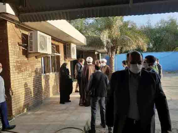 بازدید رئیس کل دادگستری خوزستان و امام جمعه کارون از دادگستری شهرستان