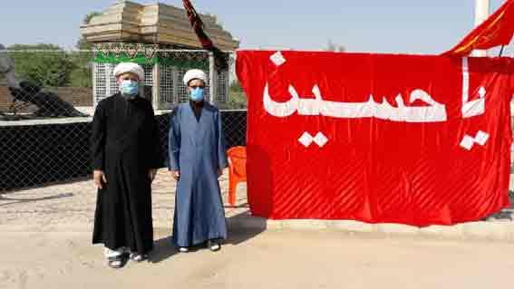 توزیع ماسک و آب معدنی بمناسبت تاسوعای حسینی