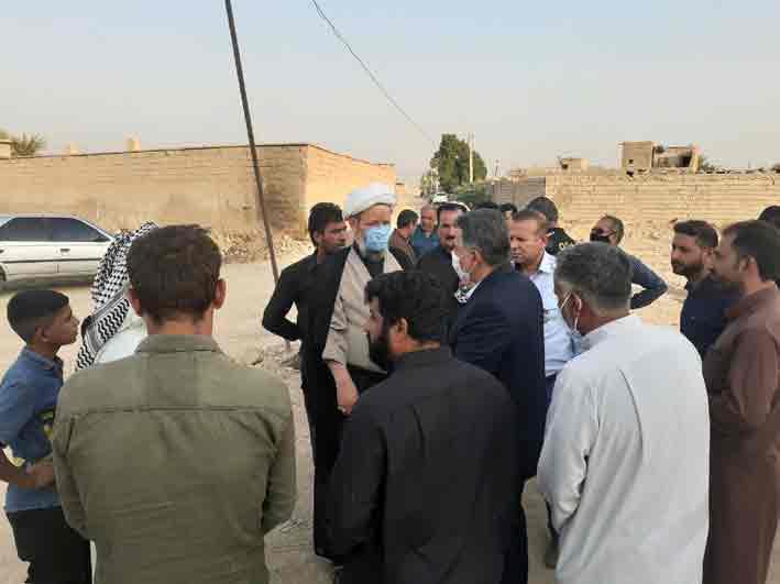 بازدید نماینده ولی فقیه و امام جمعه کارون از کوی منتظری