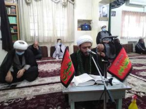 گزارش تصویری/مراسم قرائت زیارت اربعین در دفتر امام جمعه کارون