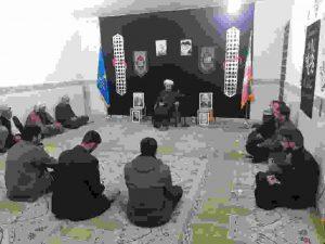 مراسم عزاداری شهادت حضرت زهرا(س)درحوزه مقاومت بسیج حضرت حجت (عج)