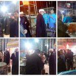 بازدید امام جمعه کارون ازمحل پخت و اطعام فاطمیه در شهرستان کارون