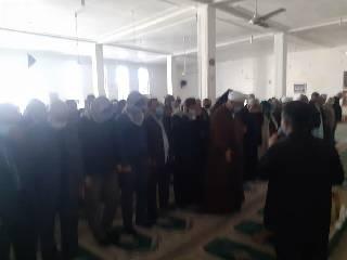 تشییع و اقامه نماز بر پیکر مادر شهید باوی توسط امام جمعه کارون