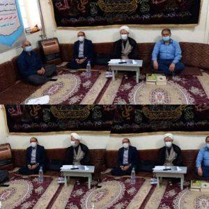 دیدار اعضای جبهه مردمی شهرستان با امام جمعه کارون