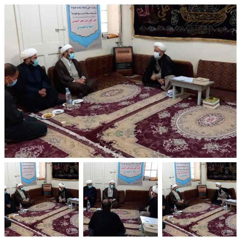 دیدار مسئولین بنیاد برکت با امام جمعه