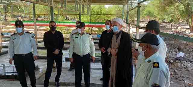 مراسم غبارروبی و عطر افشانی مزار شهدا بمناسبت هفته دفاع مقدس